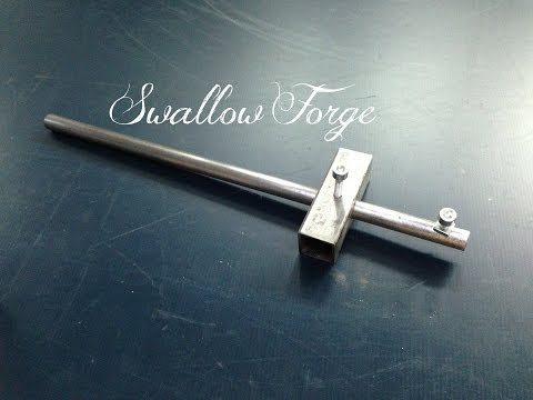 How to make a sheet metal Marking Gauge. Swallow Forge. Blacksmiths Tools No.15
