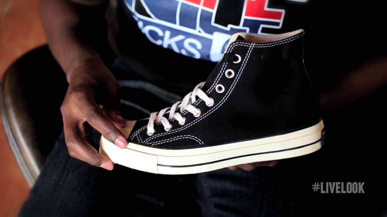 c9dd6a47e8f Converse First String Chuck Taylor 1970s  Live Look - YouTube