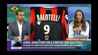 TV portuguesa destaca a possível contratação de Balotelli pelo Flamengo