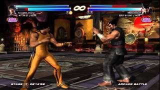 Tekken Tag Tournament 2 - Forest Law/Marshall Law Arcade Run GAME OF DEATH