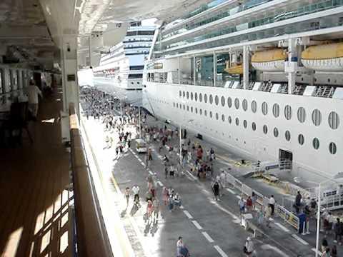 Cruise Ship Gangway Promenade View Youtube