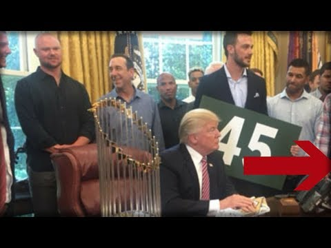 MEDIA LOSES IT OVER WHAT STAR ATHLETE DOES DURING WHITE HOUSE PHOTO WITH TRUMP - JUST 1 PROBLEM