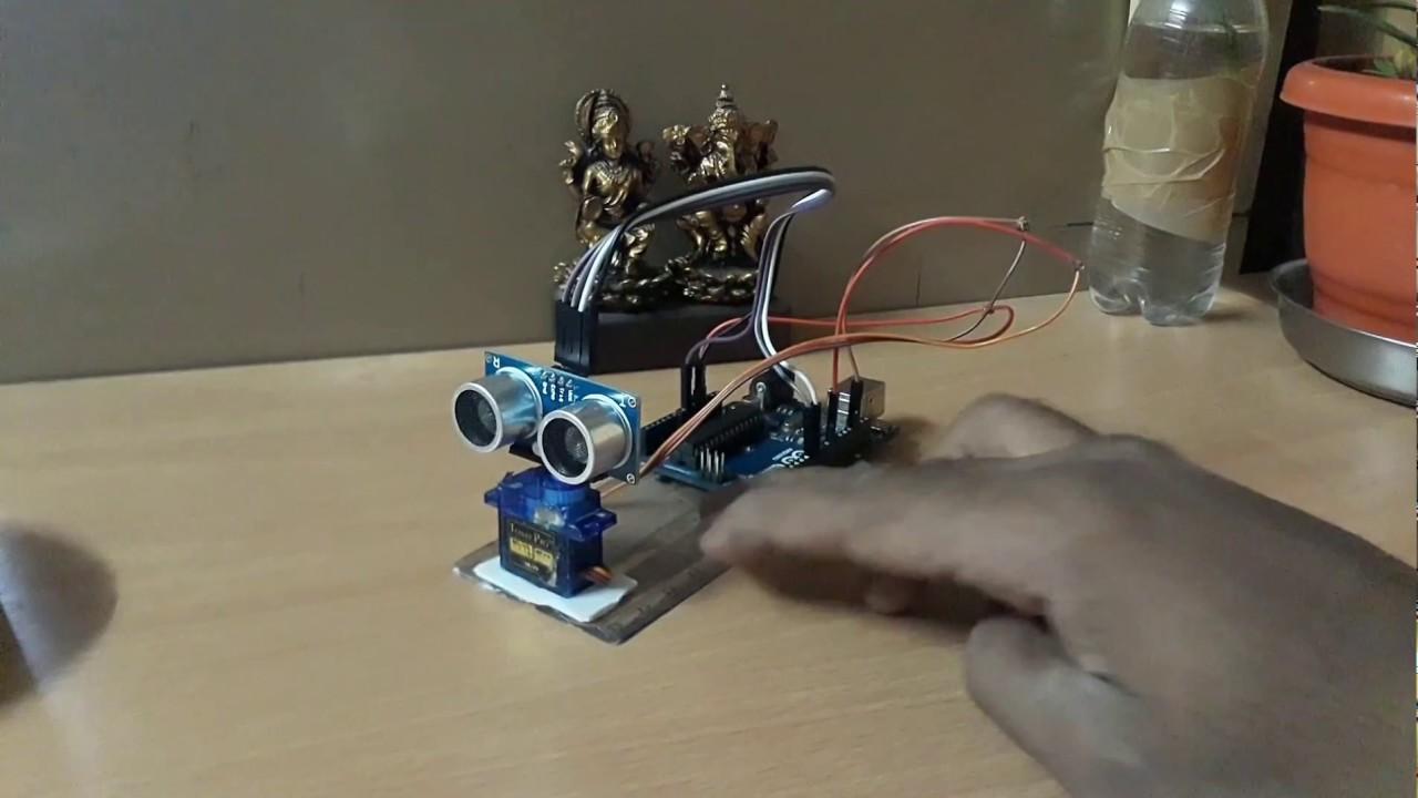 Arduino Radar detector   Ultrasonic sensor project   Arduino Robotics 