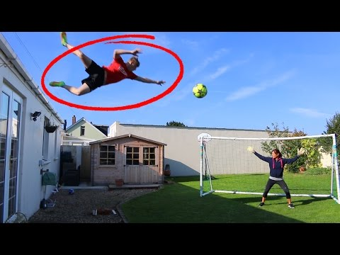 Thumbnail: JUMPING OFF MY ROOF FOOTBALL CHALLENGE!!
