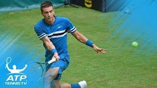 Federer Rolls, Coric Upends Zverev | Halle 2018 Highlights Day 2
