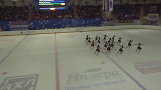 Чемпионат России по синхронному катанию KMC Короткая программа 6 Метеорит CHE
