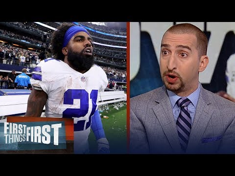 Nick Wright believes Ezekiel Elliott is the key to Cowboys vs Seahawks | NFL | FIRST THINGS FIRST