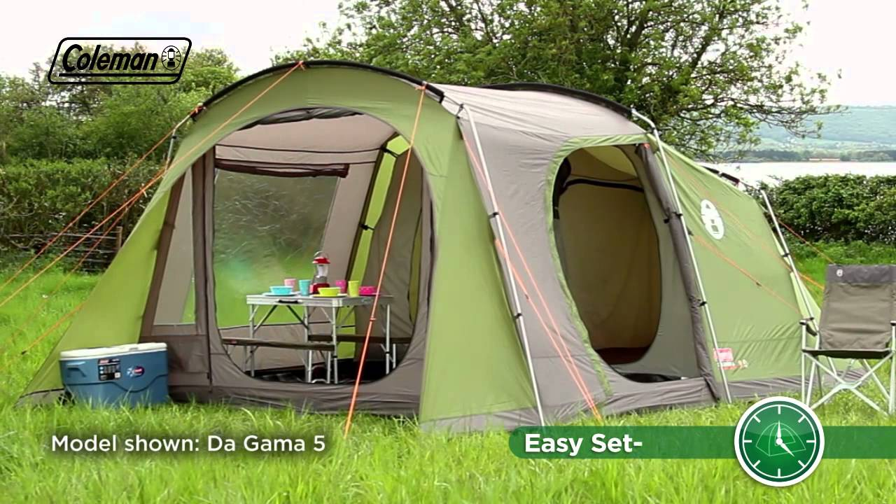 Comfortable Camping Chairs Hanging Chair Graham And Green Coleman® Da Gama 4 - Family Tent Youtube
