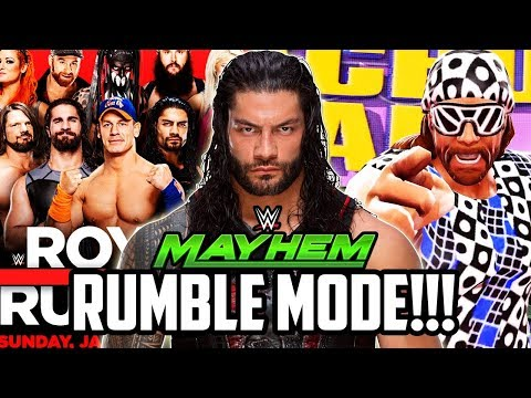 WWE MAYHEM NEW ROYAL RUMBLE MODE!!!