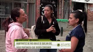 Habitantes de Río Abajo se quejan del agua pantanosa que deben consumir