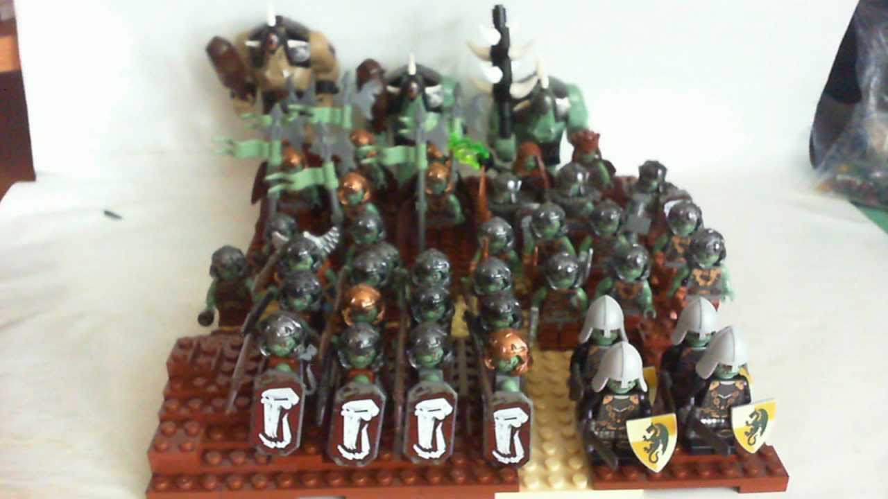 Lego Castle Trolls Army As Of July 28 2011 Youtube Skeleton Tower 7093