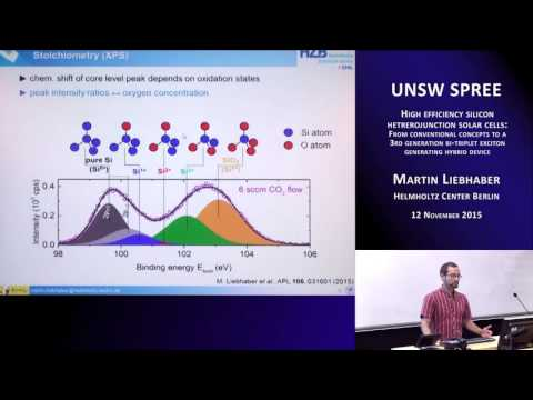 UNSW SPREE 201511-12 Martin Liebhaber - High efficiency silicon heterojunction solar cells