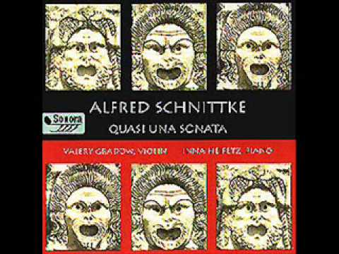 Alfred Schnittke Violin Sonata No. 1, 4th movement, Valery Gradow, violin / Inna Heifetz, piano