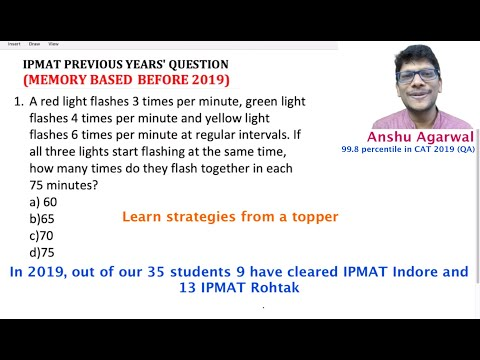 IPMAT Previous Years Questions 01 | IPMAT 2020 Preparation