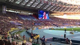 Золотая эстафета 4х400 (Женщины). Вид с трибуны. Москва. ЧМ по легкой атлетике 2013