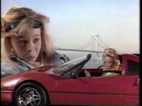 Barbie Blinking Beauty Horse & Barbie Ferrari 80s Commercial (1988)