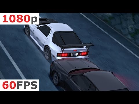 Initial D: Fifth Stage - 11 - Full Stop, And Beyond... [1080p 60 FPS]