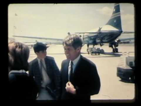 Robert and Ethel Kennedy at Salt Lake City Airport