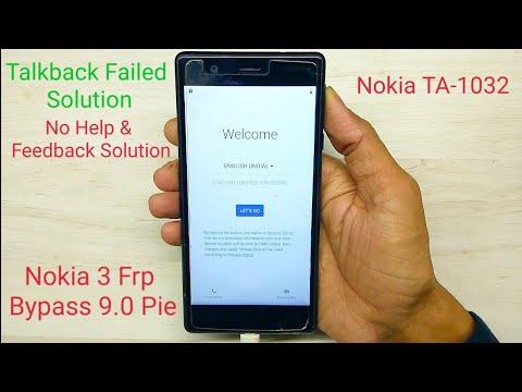 Nokia 3 TA-1032 Frp Bypass 9.0 Pie || Frp Unlock New Method