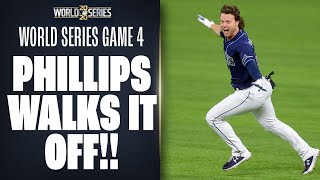 INSANE ENDING!! Rays' Brett Phillips WALKS IT OFF in World Series Game 4!!