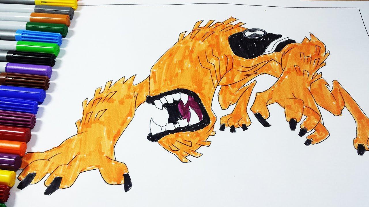 coloring pages ben 10 wildmut ben 10 omniverse ben 10 ultimate