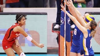 Alyssa Valdez breaks down the wall | Philippines VS Kazakhstan | AVC 2017