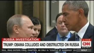 Trump Tweet Obama Colluded Obstruction on Russia and Obama should apologize