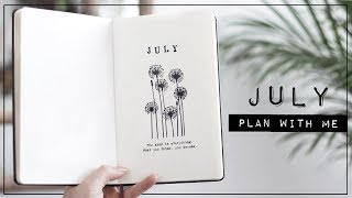 plan with me // july 2019 bullet journal setup