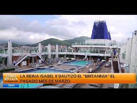 El Britannia, el crucero más grande del Reino Unido atraca en Getxo