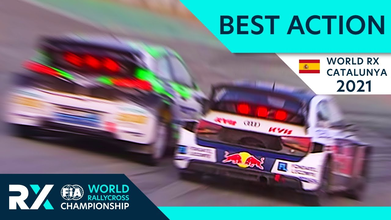 Best Rallycross Action - World RX of Catalunya 2021 with Crashes, Battles, Jumps and Passes.