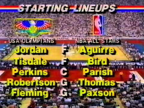 Michael Jordan - USA v NBA Stars 1984