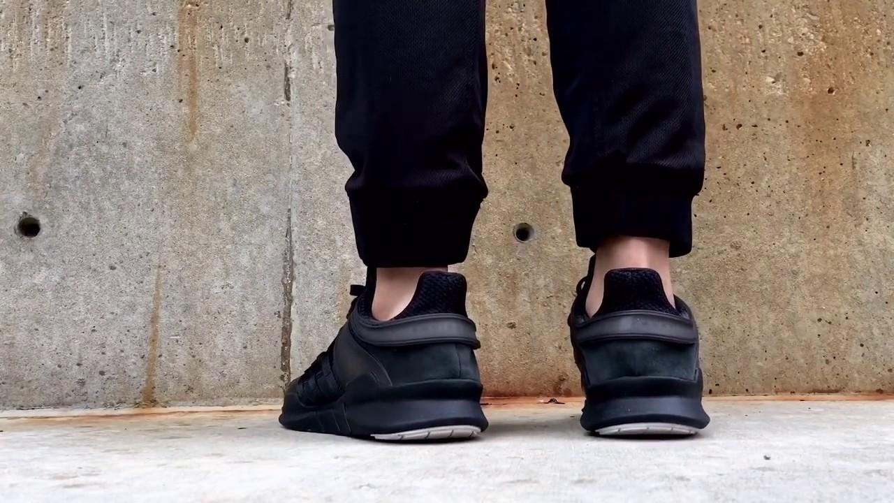 kup tanio w sprzedaży hurtowej nowy przyjazd ADIDAS EQT SUPPORT ADV COLT BLACK ON FOOT - YouTube