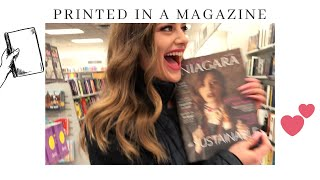 BUYING MY MAGAZINE AT THE MALL