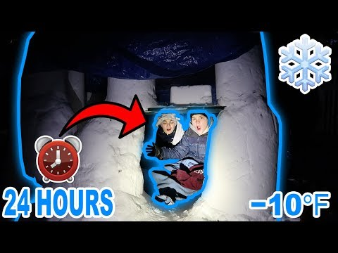 24 HOUR OVERNIGHT CHALLENGE IN AN IGLOO! (GONE WRONG)