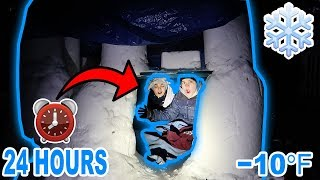 24 HOUR OVERNIGHT CHALLENGE IN AN IGLOO!