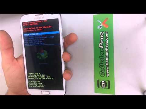 Como resetear a modo fabrica el Samsung Galaxy Note 2 ★ Hard Reset