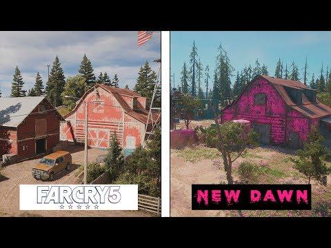 Far Cry New Dawn VS Far Cry 5 | MAP COMPARISON | Evolución Final del mapa