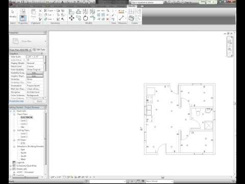 revit tutorial electrical plan part 1 funnycat tv. Black Bedroom Furniture Sets. Home Design Ideas