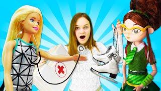 Смешные видео игры для девочек - Кукла Барби и волшебницы Сказочного Патруля в видео шоу.