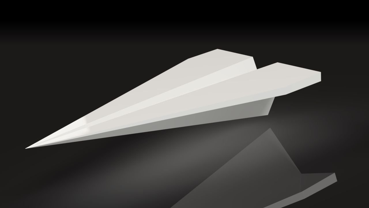 3D Printed Paper Plane for your desktop - holds business cards ...
