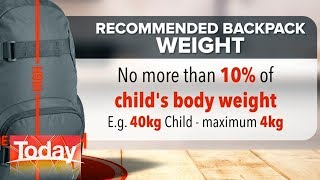 70% of Aussie kids experience back pain   TODAY Show Australia