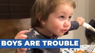 Dad Does Not Approve of Toddler