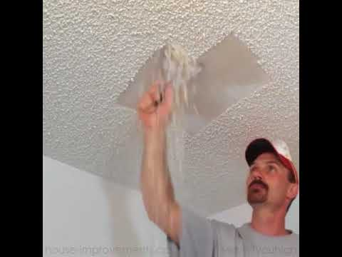 How To Take Off Popcorn Ceilings