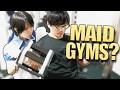 NEW JAPANESE MAID GYMS?! - Incoming Buff Otaku