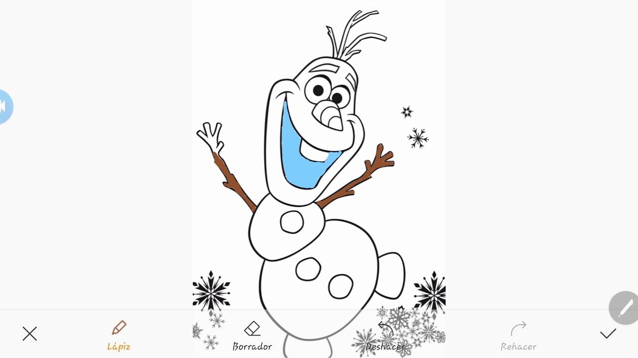 Coloreando A Olaf Frozen Youtube