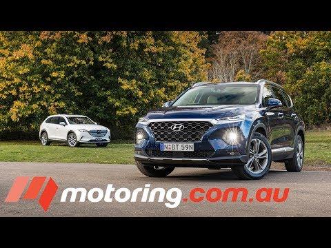 2018 Hyundai Santa Fe v Mazda CX 9 motoring.com.au