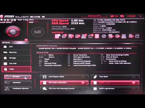MSI Z170A Gaming M5 BIOS Overview