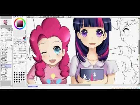 Speedpaint my little pony friendship is magic youtube - My little pony en humain ...