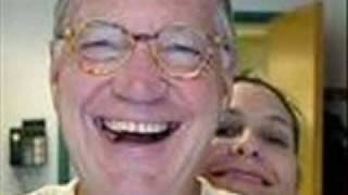 LETTERMAN SMILES WITH GIRLFRIEND HOLLY