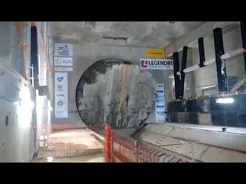 Arrivée tunnelier station de métro Jules Ferry - Rennes - 16/06/2017